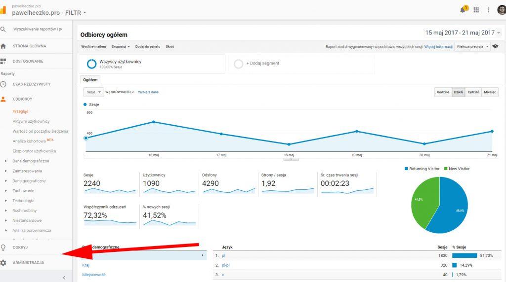 Analiza ruchu nastronie - Cześć 2. Google Analytics. 8