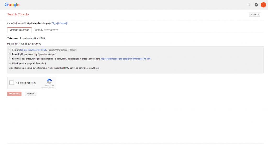 Analiza ruchu na stronie. Cześć 1 – Google Serach Console 5