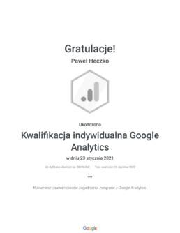 Kwalifikacja indywidualna Google Analytics _ Google 8